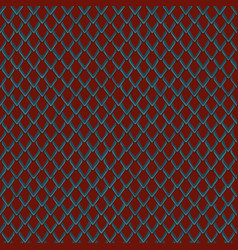 snake skin red and blue seamless pattern vector image