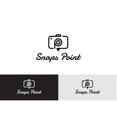 snaps point with camera logo vector image