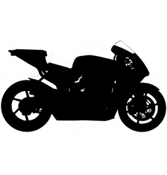 Sports motorbike silhouette vector