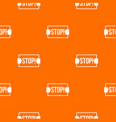 stop pattern seamless vector image