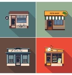 Stores and Shop Facades Colourful vector