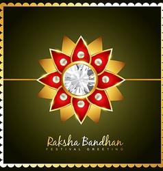 stylish rakhi background vector image