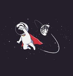 Super astronaut vector