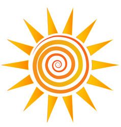 swirly sun abstract vector image