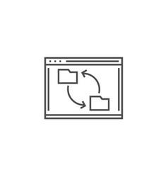 synchronization line icon vector image