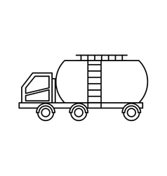 Tank car isolated icon vector image