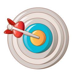 target circle icon cartoon style vector image