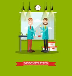 Test demonstration concept vector