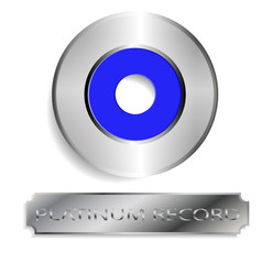 the platinum record vector image