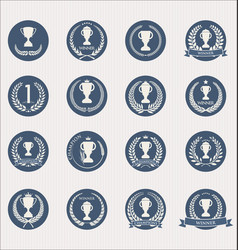 trophy icon collection 2 vector image