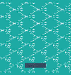 turquoise color floral pattern background vector image