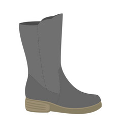 Waterproof shoe icon flat style vector