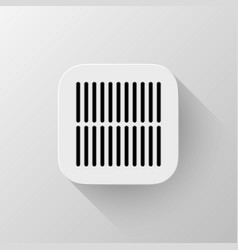 White technology app icon template vector