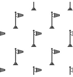 wind speed flag on a pole seamless pattern vector image