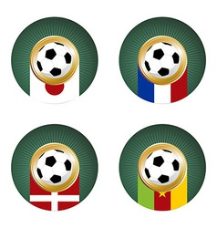 World Cup Group E vector image