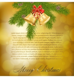 Xmas greeting card vector image