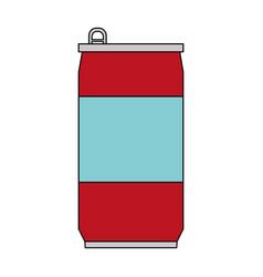 Color image cartoon soda can of drinks vector