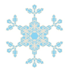 Crystal Snowflake vector image vector image