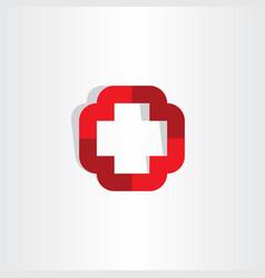 medical cross symbol icon logo element vector image vector image