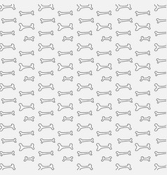 pattern with bone for dog vector image