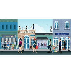 shopping centers vector image