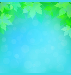 Spring or summer background with bokeh lights vector