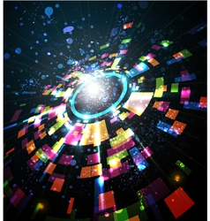 abstract perspective circle vector image