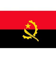 Angolan flag vector image vector image