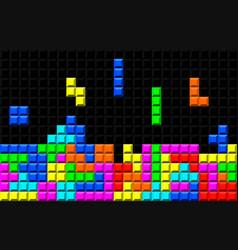brick retro game vector image vector image