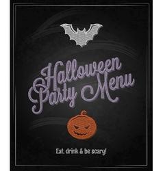 halloween menu chalkboard restaurant background vector image vector image