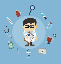 modern medical icons in the flat style vector image