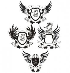 set of grunge shields vector image vector image