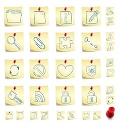 sticker icon set vector image vector image