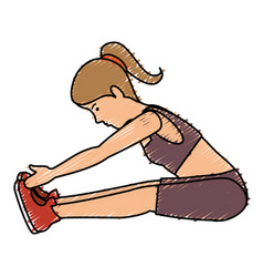 athlete woman doing exercise vector image