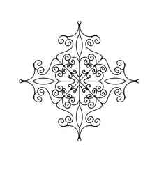 flourish ornament isolated on white background vector image