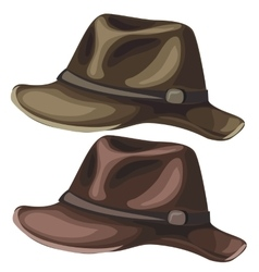 Mens classic hat on white background vector image