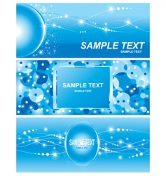 set of electricity blue background vector image vector image