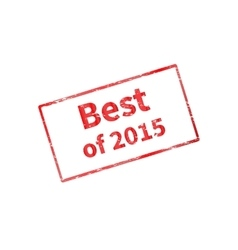 The best of last year 2015 vector image