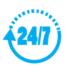 247 elements open 24 hours a day and 7 days a vector image