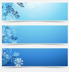 Falling snow winter new year web headers vector image