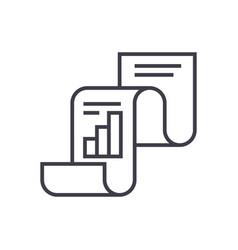 statistical reportstatistics line icon vector image vector image