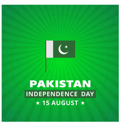 14th august pakistan independence day abstract vector