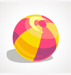 a cartoon ball for playing on the beach vector image