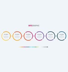 abstract business circle infographic template vector image