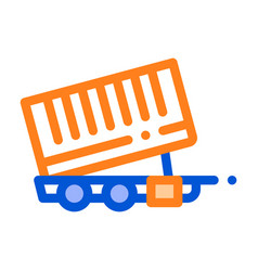 agricultural cargo trailer thin line icon vector image