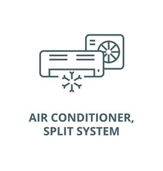 air conditionersplit system line icon vector image
