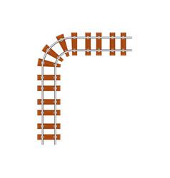 angle turn of railroad vector image