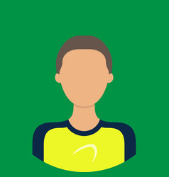 athlete characte icon great of character use for vector image