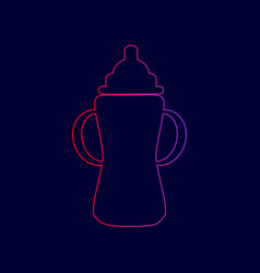 baby bottle sign line icon with gradient vector image