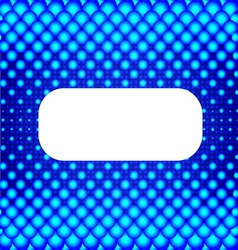 Blue halftone background with white banner for vector